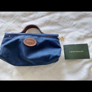 Longchamp navy cosmetic case